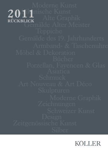 Jahresrückblick 2011 - Koller Auktionen