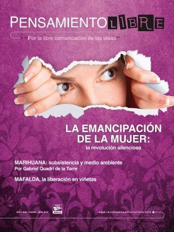 LA EMANCIPACIÓN DE LA MUJER: - Revista Pensamiento Libre
