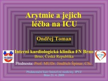 Arytmie a jejich léčba na ICU - AKUTNE.CZ