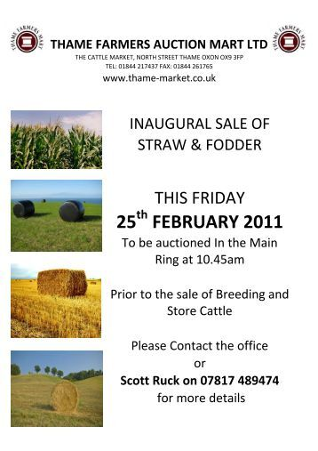 25 FEBRUARY 2011 - Thame Farmers Auction Mart