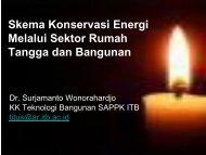 Skema Konservasi Energi Melalui Sektor Rumah Tangga dan ... - ITB