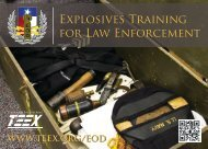 Explosives Training for Law Enforcement - Texas Engineering ...