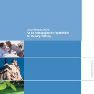 Patientenbroschüre für die Orthopädischen ... - Hessing Stiftung
