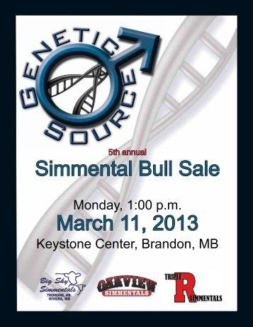 Simmental Bull Sale March 11, 2013 - Transcon Livestock Corporation