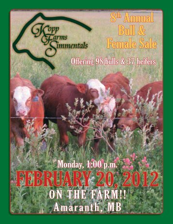 8th Annual Bull & Female Sale - Transcon Livestock Corporation