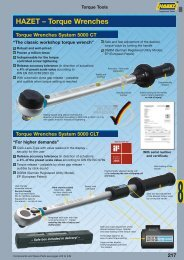 Torque wrenches, insert tools - Koch
