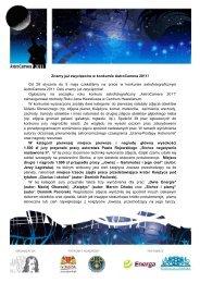 Znamy już zwycięzców w konkursie AstroCamera 2011 - Centrum ...