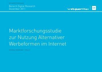 Marktforschungsstudie zur Nutzung Alternativer ... - Webguerillas