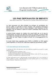 LES PME DEPOSANTES DE BREVETS - Inpi