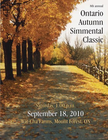Transcon's Ontario Autumn Classic Simmental Sale