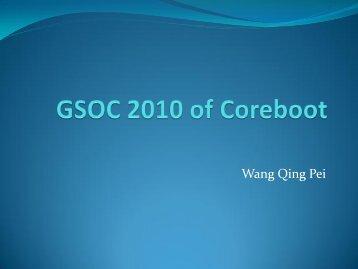 Wang Qing Pei - Coreboot