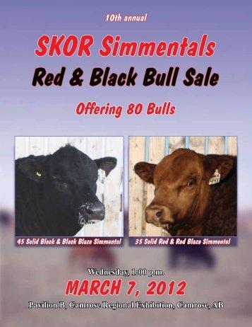 Red & Black Bull Sale - Transcon Livestock Corporation