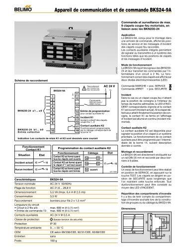 Appareil de communication et de commande BKS24-9A - Belimo