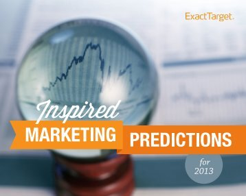 2013 predictions from industry experts