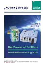 Application Examples Sensor Profibus Module ... - Industrie-Schweiz