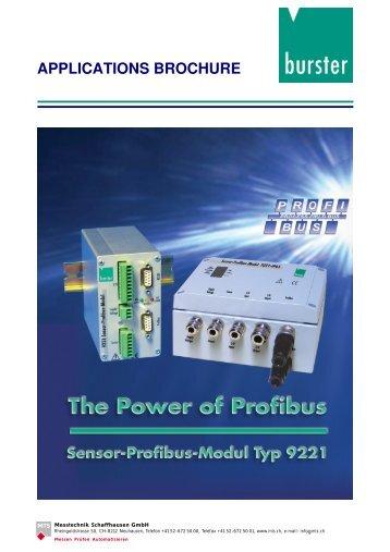 Application Examples Sensor Profibus Module ... - Industrie-Schweiz