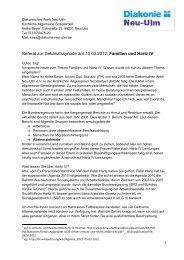 Referat zur Dekanatssynode am 10.03.2012: Familien und Hartz IV