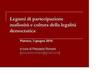 Slide mafiosità e cultura della legalità democratica - Comune di ...
