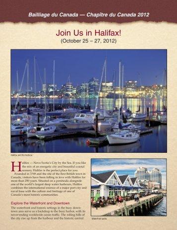 Join Us in Halifax! - la Chaine des Rotisseurs, Bailliage du Canada