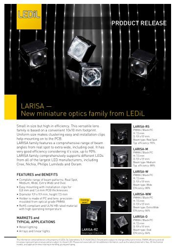 LARISA press release - Ledil