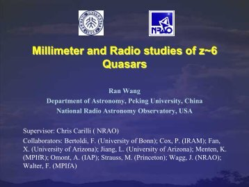 Millimeter and Radio studies of z~6 QuasarsMillimeter