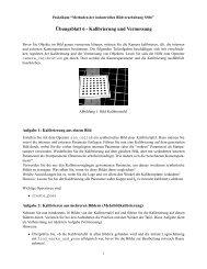 Übungsblatt 6 - Kalibrierung und Vermessung