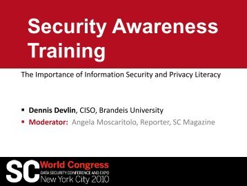 Security Awareness Training - We'll be right back.... - SC Magazine