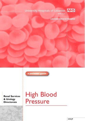 High Blood Pressure- PDF (870KB)