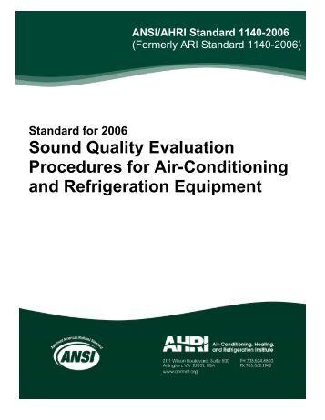 Hvac procedures and manual handbook 1997