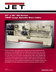 GH-2280ZX Lathe Sell Sheet.indd - JET Tools