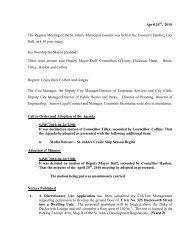 Council Minutes Monday, April 26, 2010 - City of St. John's