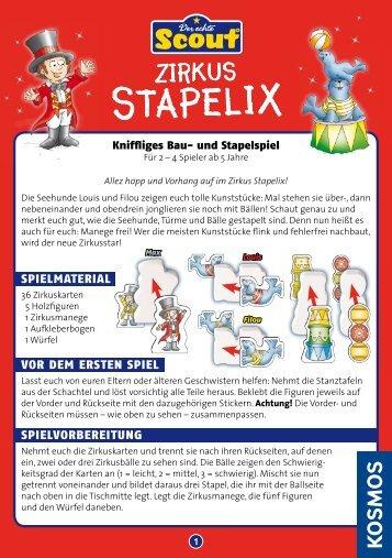 Anleitung: Scout Zirkus Stapelix - Kosmos