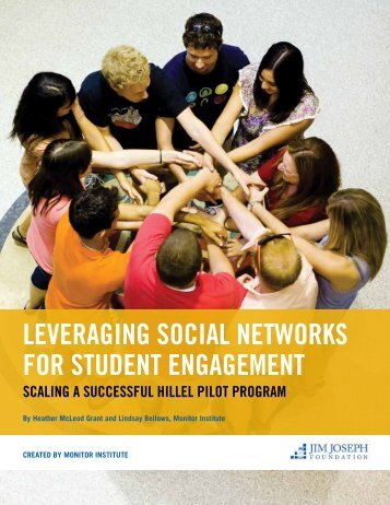 Leveraging Social Networks for Student Engagement - Jim Joseph ...