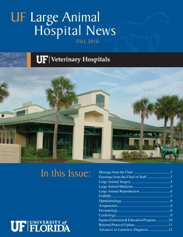 Fall 2010 RDVM Large Animal Hospital Newsletter - Veterinary ...