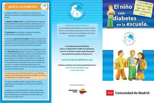 descargar tripticos sobre la diabetes
