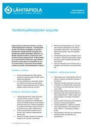 Verkkohyökkäyksien torjunta - Tapiola