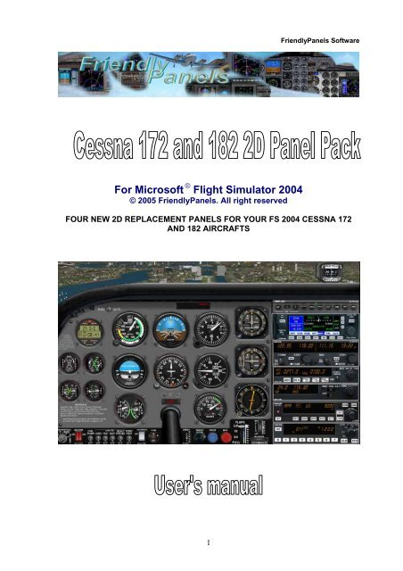 For Microsoft Flight Simulator 2004 FriendlyPanels