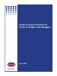 Guide to Sound Practices for Funds of Hedge Funds Managers