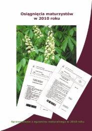 Sprawozdanie z egzaminu maturalnego w 2010 roku - Centralna ...