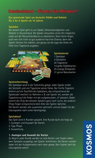 Anleitung: Deutschland - Finden Sie Minden? - Kosmos