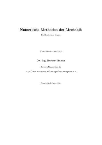 Numerische Methoden der Mechanik - BaaserWeb