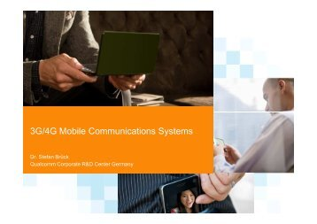 3G & 4G Mobile Communication Systems - Chapter IV