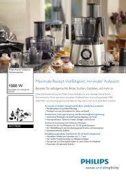 Leaflet HR7778 00 Released Switzerland (German) High ... - Philips