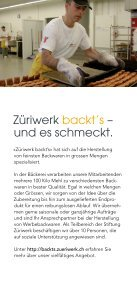 Broschüre Züriwerk backt's - Bäckerei - Seite 2