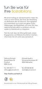 Broschüre Züriwerk backt's - Bäckerei - Seite 4