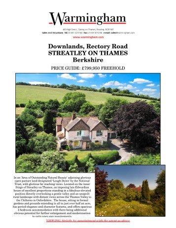 Downlands, Rectory Road STREATLEY ON ... - Warmingham