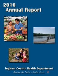 2010 Ingham County Health Department Annual Report