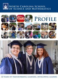 Profile - North Carolina School of Science and Mathematics