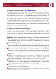 Informationsblatt Virtuelle Fachbibliothek Recht 2008
