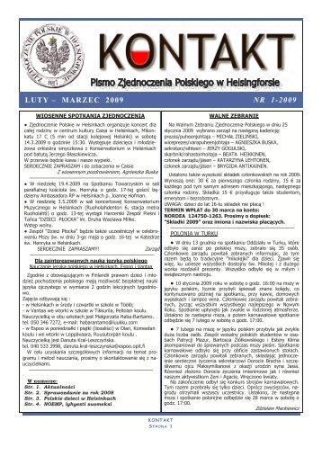 nr. 1-2009 - Zjednoczenie Polskie w Helsinkach